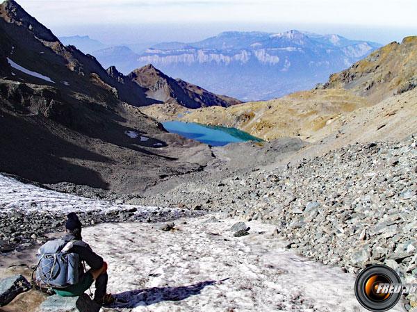 Le lac vu du dessus.
