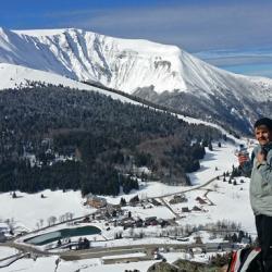 Le bevédère au dessus de la station de ski de la Morte.