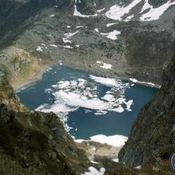 Le lac vu du Pic Barlet.