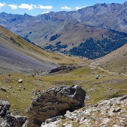 La vallon longeant le torrent.