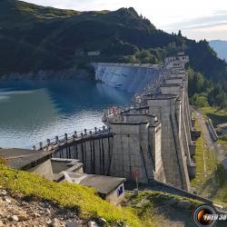 Le barrage.
