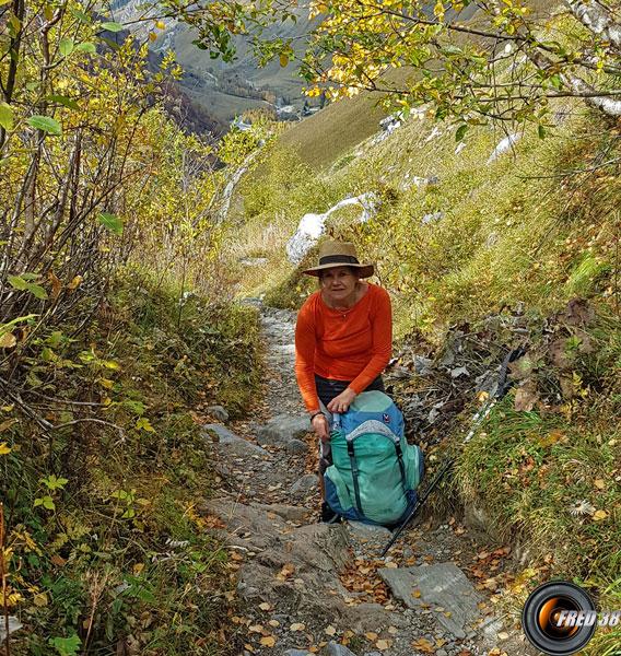 Sentier au dessus de la Laisonnay d'en Haut