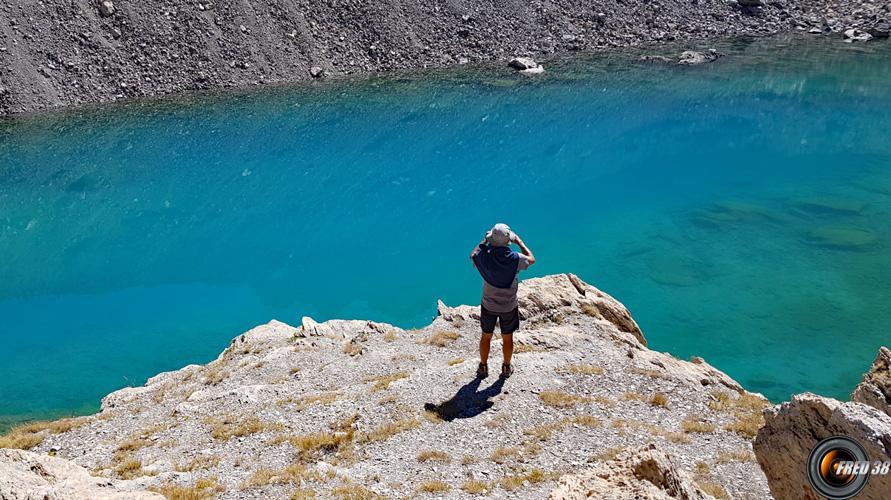 Lac Long et son étrange couleur.