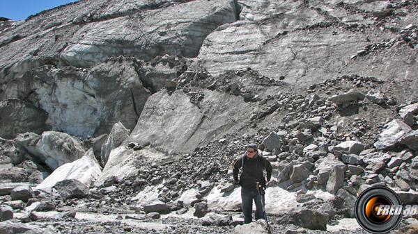Pied du glacier en 2007.