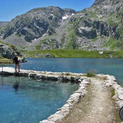 Le passage entre le lac de Cottepens et lac carré.