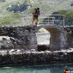 Le petit pont sur le lac de Cottepens.