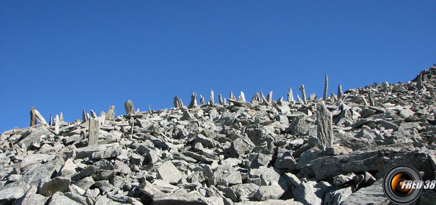 L'arête du sommet