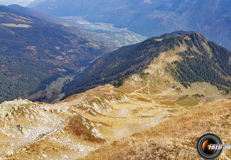 Vue du sommet sur la vallée