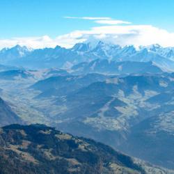 Mont-Blanc vu du sommet.