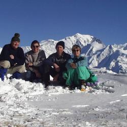 Le sommet, et en fond le Mont-Blanc.