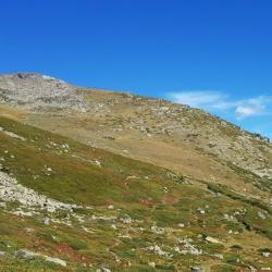 Le sommet en versant sud