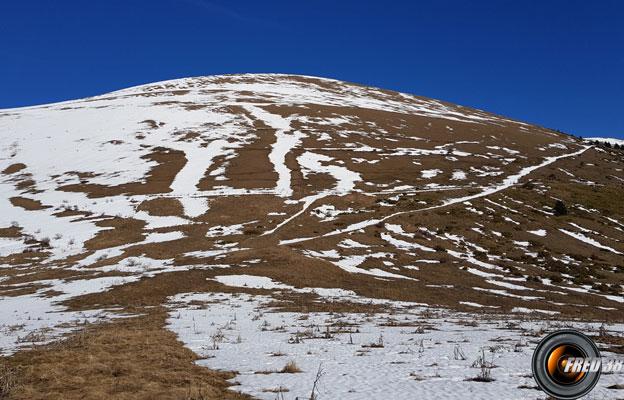 Le sommet vu du Haut Col.