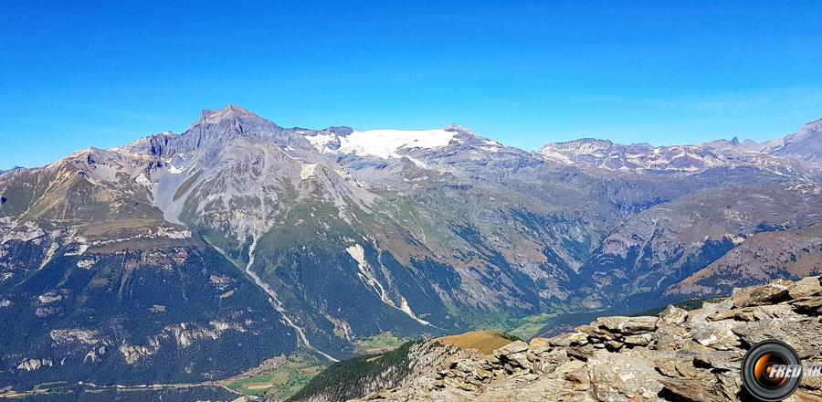 La Dent Parrachée et les glaciers de la Vanoise