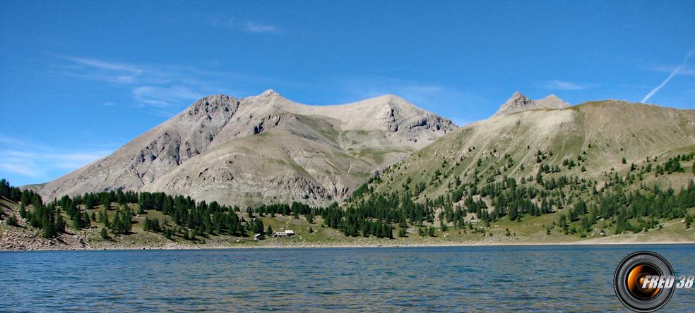 Lac d'Allos et le sommet en fond.
