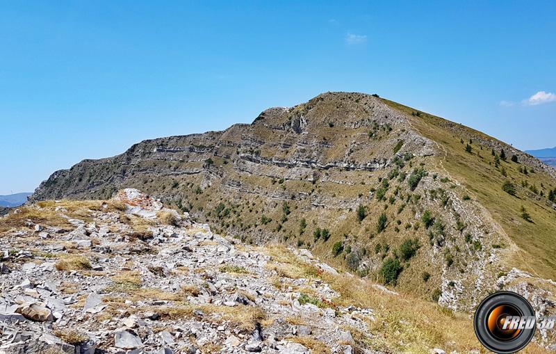 La montagne vue du Pic.
