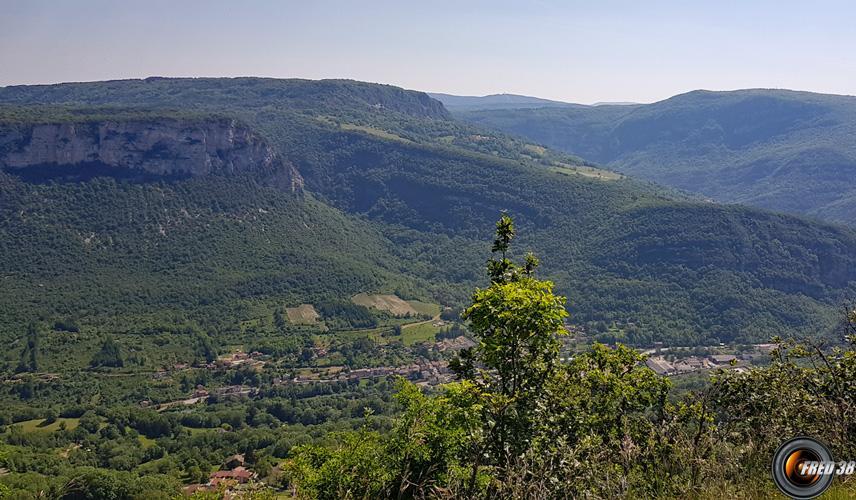 Vue sur la vallée.