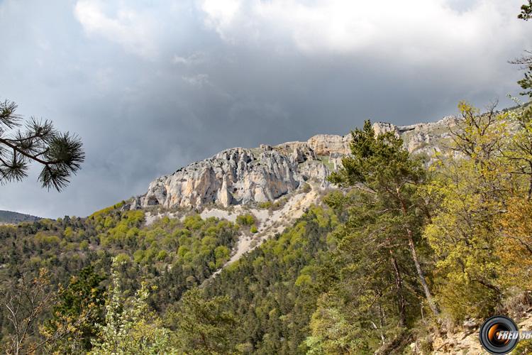 La falaise du plateau.