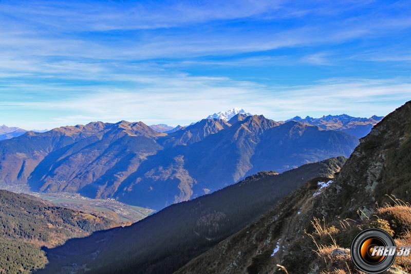 Vue sur le Mont-Blanc.