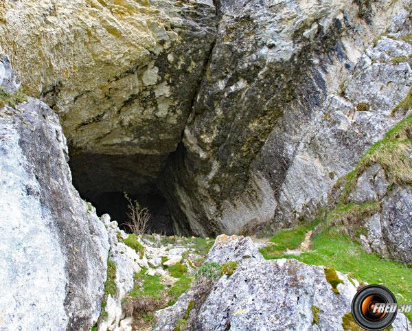 Entrée de la grotte.