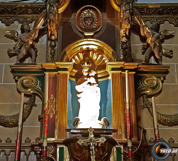 Statue de la Vierge dans la Chapelle.