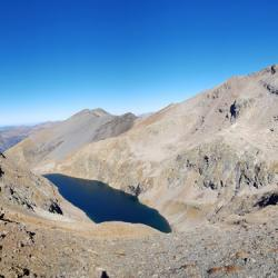 Lac du Vallon vu du sommet.