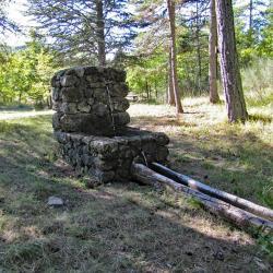 La fontaine des Aubarets.