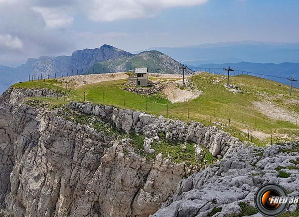 Le haut de la remontée du Belvédère.