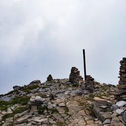 Les Cairns du sommet.