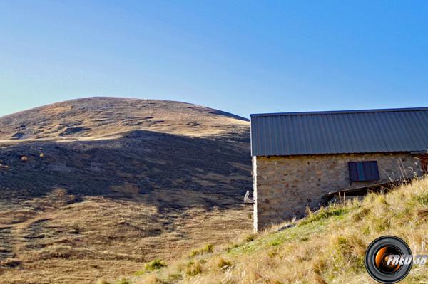 Le sommet vu de la cabane de Chalufy.