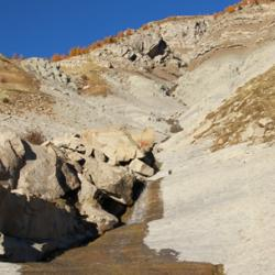 La source de l'Issole avant Colle Meyère.