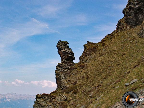 La crête avant le sommet.