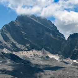 Les restes du glacier.