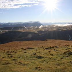 Le plateau vu Roc de Touleau.