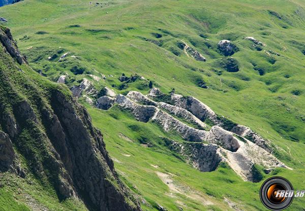 Zone gypseuse près du sommet