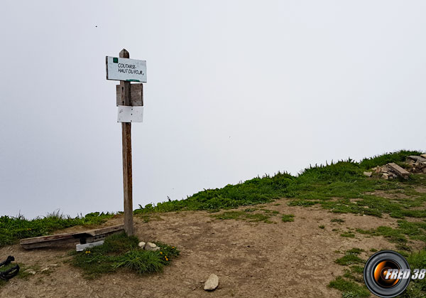 La petite plateforme du sommet.