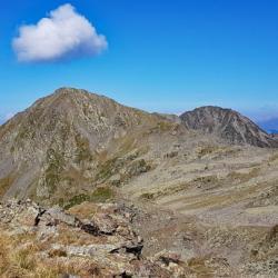 La Pointe de la Grande Journée et en fond le Mont Mirantin.