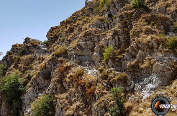 Passages délicats avant d'arriver au sommet