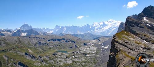 Le Mont-Blanc vu du sommet.