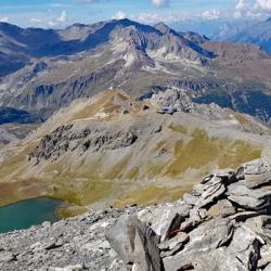 """Le sommet et en dessous """"Punta Bagna"""""""