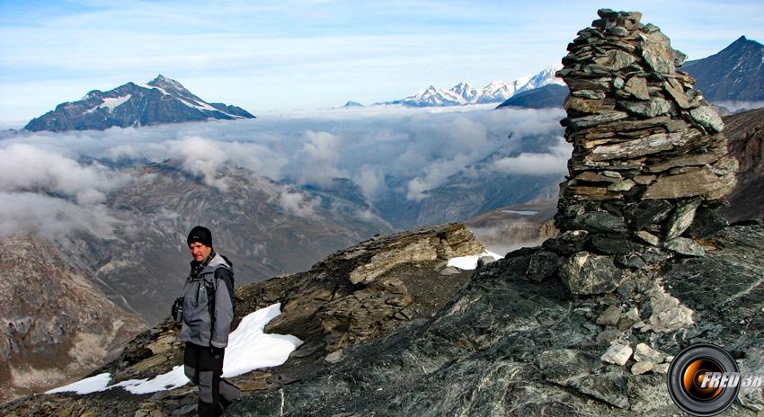 Le cairn du sommet