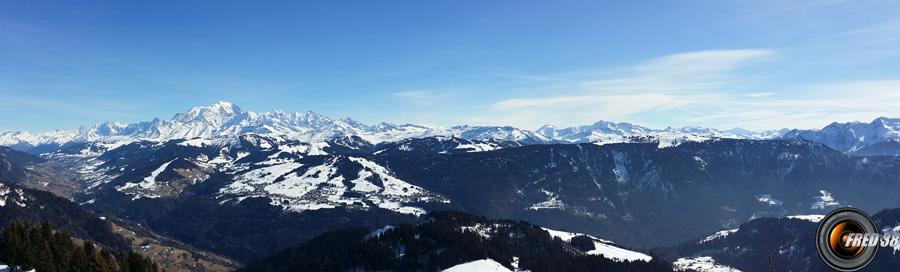 Panoramique vu du sommet.