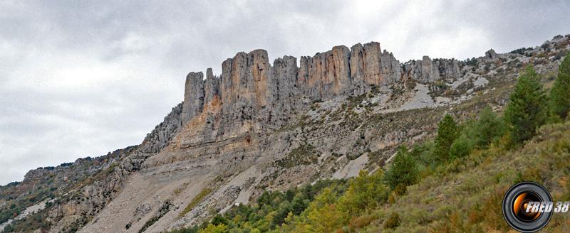 La Cadière de Brandis, vue du hameau éponyme.