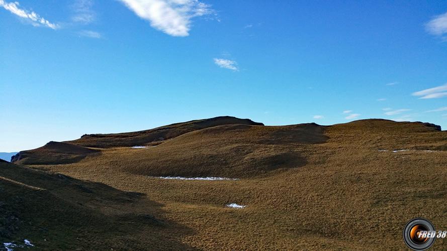 Alpage vers le sommet.