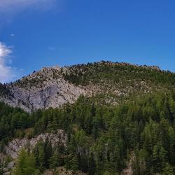 Le sommet vu en cours de montée.