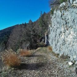 Sur la piste en direction du sommet