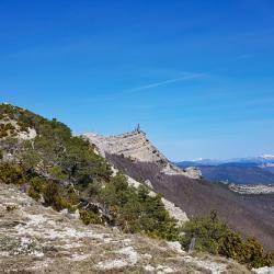 Le sommet vu de la crête d'Aumage.