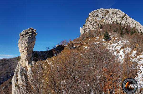 Sous le Rocher de Chalvès.
