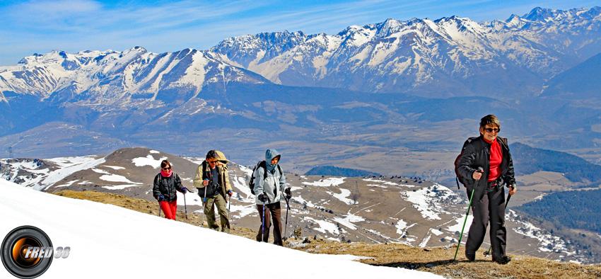 Arrière plan le Taillefer, Mont Tabor et les Ecrins.