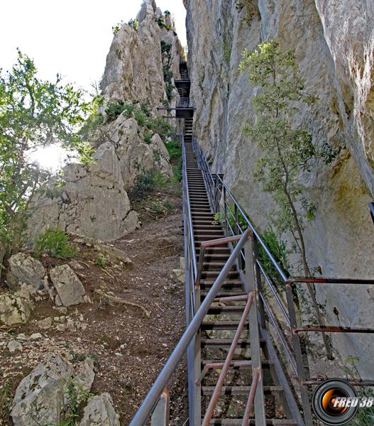 Les escaliers de la Brêche Imbert.