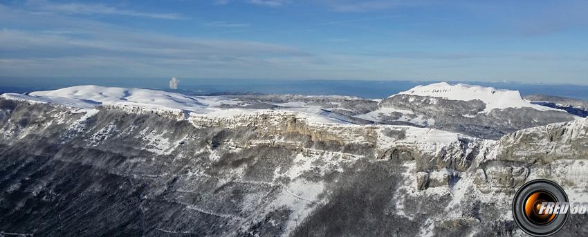 Plateau d'Ambel et Roc Toulau.